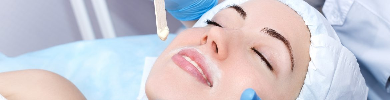 Facial waxing depilation